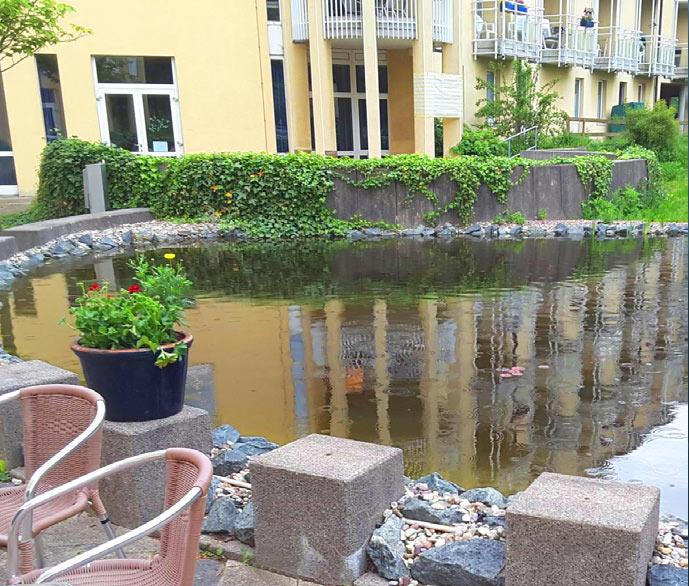 Zierteich mit ca. 100 m Uferlänge, Salzgitter